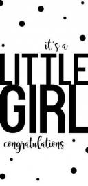 Wenskaart | It's A Little Girl