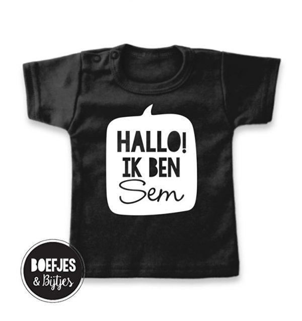 HALLO! IK BEN… – GEPERSONALISEERD NAAMSHIRT