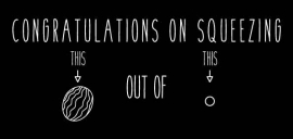 Wenskaart | Congratulations On Squeezing