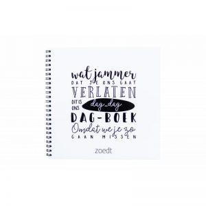 Dag dag dagboekje - afscheidsboekje