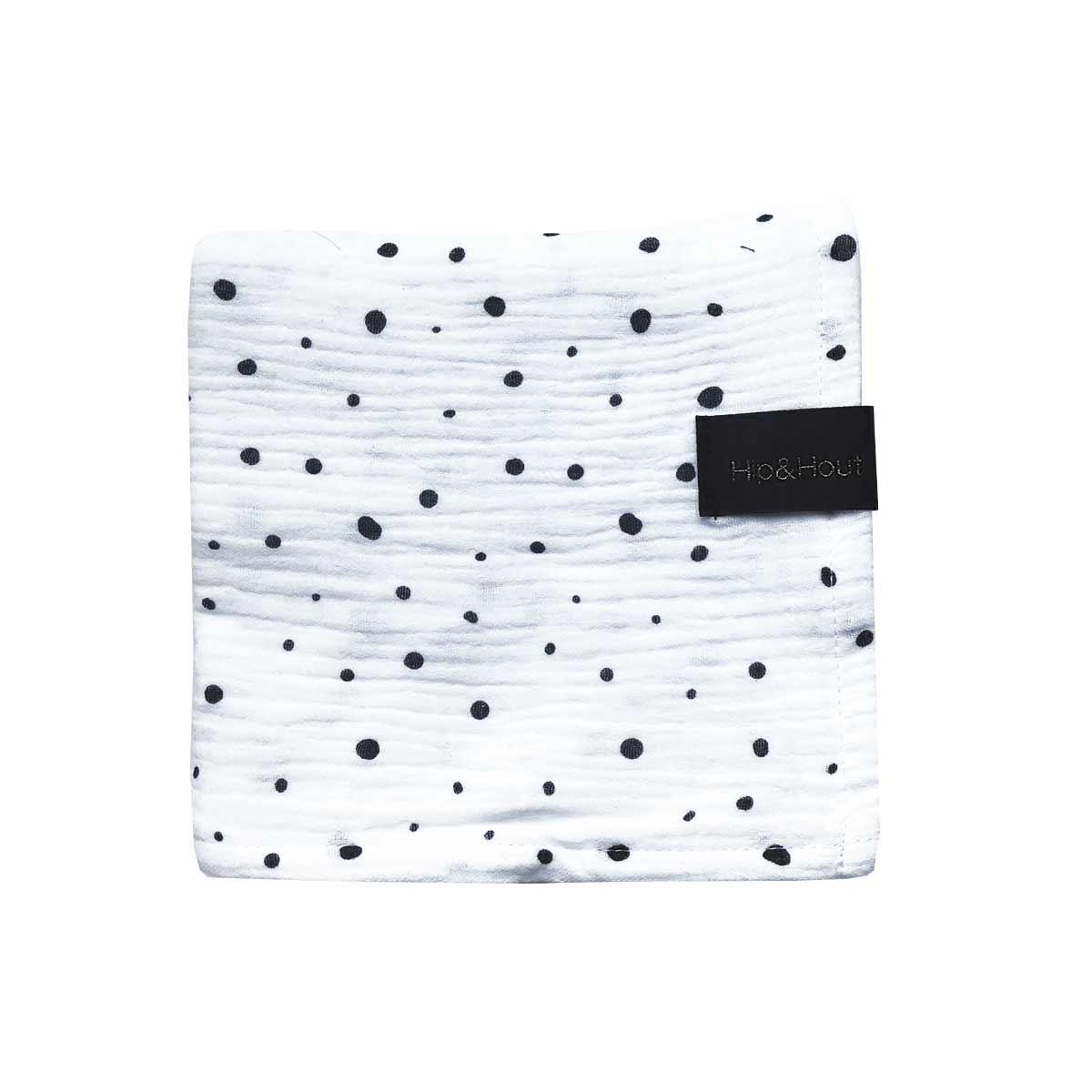 Hydrofiele-doek-dot-wit-zwart