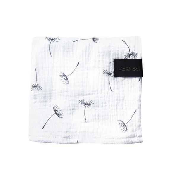 Hydrofiele-doek-paardenbloem-wit
