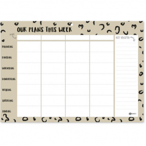 Gezinsplanner 'Our Plans This Week'
