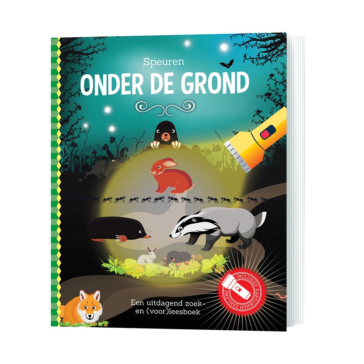 zaklampboek onder de grond