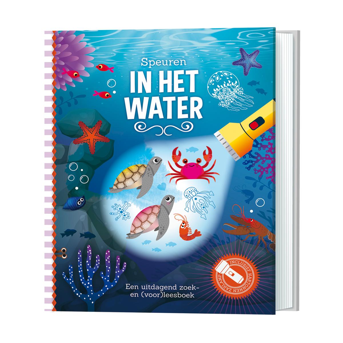 zaklampboek in het water